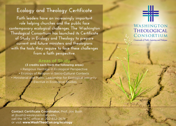 Ecology and Theology Certificate Image