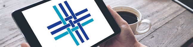 WTC logo on Tablet